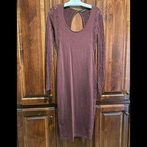 Burgundy Moda International sweater/lace dress